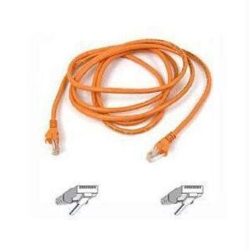 Belkin Components 5ft Cat5e Snagless Patch Cable, Utp, Orange Pvc Jacket, 24awg, T568b, 50 Micron,