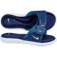 Nike Women's Comfort Slide - White/Blue/Yellow | DICK'S Sporting Goods