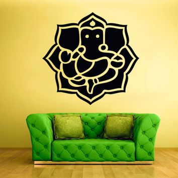 rvz250 Wall Vinyl Sticker Decal Elephant Ganesh Ganesha Symbol India Buddha Buda Z250