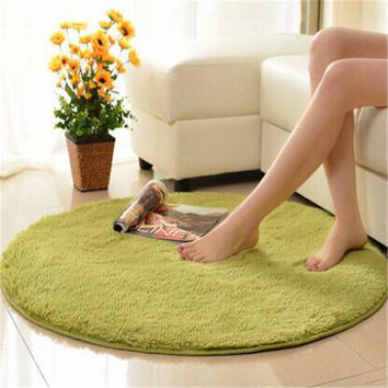 Free Shipping Anti-slip Multi Colors 40*40cm Yoga Carpet Round Floor Carpets For Living Room Bathroom Circle Mat Rug