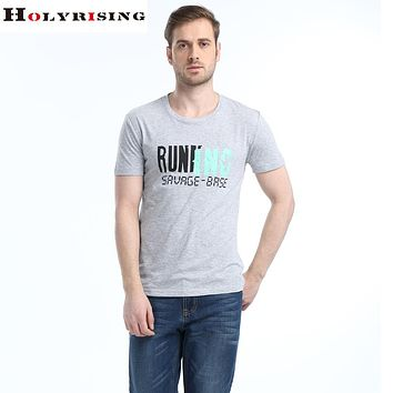 Men t-shirts cotton round collar tee tree print letter slim comfortable men clothing short sleeve tops