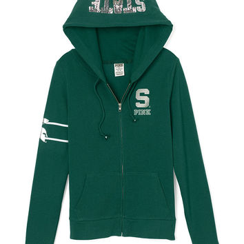 Michigan State University Perfect Full-Zip Hoodie - PINK - Victoria's Secret