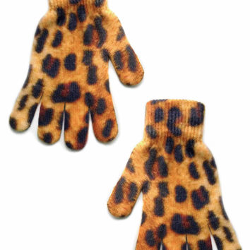 Cheetah Print Gloves