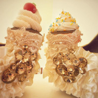 "Cupcake ""Tea Party"" Satin Crystal Heels"