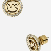 Women's Michael Kors 'Monogram' Stud Earrings