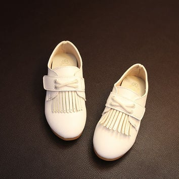 Korean Tassels Leather Casual Shoes [4919275652]