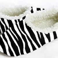 Black and White Zebra Snoozies (Large)