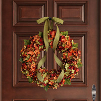 Fall Blended Hydrangea Wreath | Autumn Wreaths | Front Door Wreaths | Outdoor Wreaths | Hydrangea Wreaths