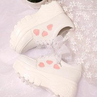 Japanese Lolita Heart High Platform & Low Platform Sneaker Shoes SD01940
