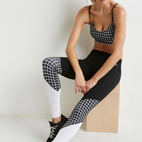Colorblocked Checkered Athletic Leggings