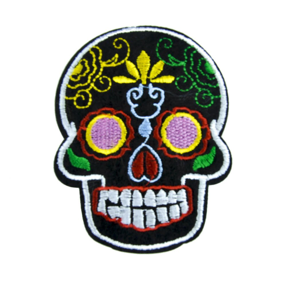 Sugar Skull Patch Iron on Applique Dia De from ...