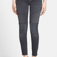 Women's Treasure&Bond Moto Jeans (Washed Black)