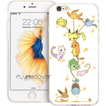 Coque Anime s Clear Soft Silicone Phone Cases for iPhone XS Max XR X 7 8 6 6S Plus 5S 5 SE 5C 4S 4 iPod Touch 6 5 Cover.Kawaii Pokemon go  AT_89_9