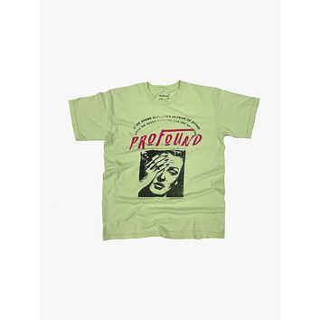 """""""Lives in Fear"""" Graphic Tee in Light Green"""