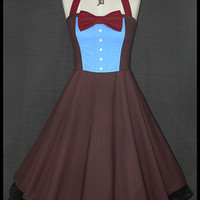 Doctor Who Suit Whovian Cosplay Halter Corset Dress SIZE 12