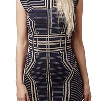 Topshop Metallic Geo Body-Con Dress | Nordstrom