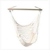 Cotton Rope Hammock Cradle Chair With Wood Stretcher:Amazon:Home & Kitchen