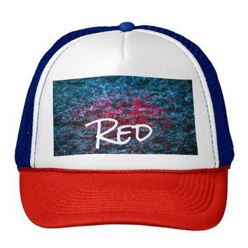 Study In Watercolor - Red Trucker Hat