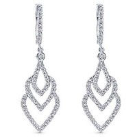 Gabriel Cascading Diamond Dangle Earrings