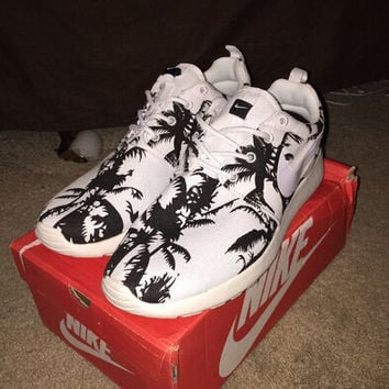 Custom Nike Roshe Run Palm Tree Size Womens