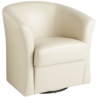 Isaac Swivel Chair - Ivory