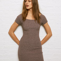 Don't Ask Why Off The Shoulder Sweater Dress, Heather Gray