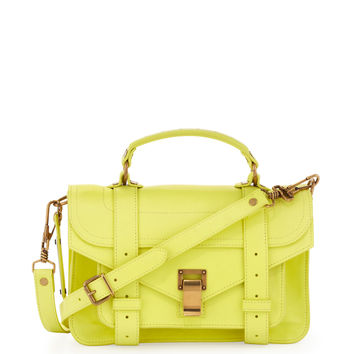PS1 Mini Satchel Bag, Lemon - Proenza Schouler