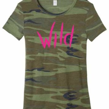 Wife Collection - Camo Wild Woman - Alternative Eco-Jersey - Dawson Urban Design Apparel
