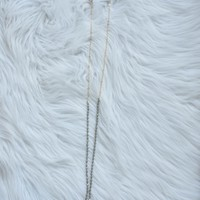Faceted Glass Bead Necklace, Grey Olive