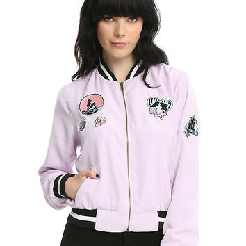 Disney The Little Mermaid Patched Girls Satin Souvenir Jacket