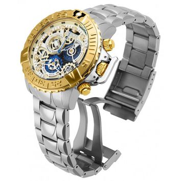 Invicta 18234 Men's Subaqua Noma II Reserve Gold & Blue Skeleton Dial Chrono Dive Watch