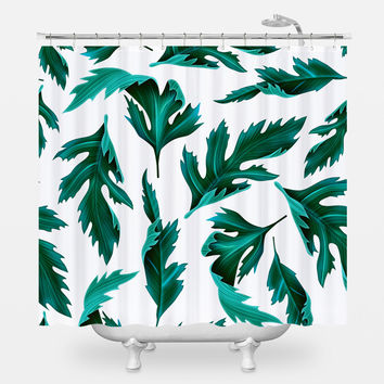 Falling Fern Shower Curtain