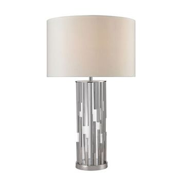 D2673-LED Trump Home Livornio Clear Glass LED Table Lamp in Polished Nickel - Free Shipping!
