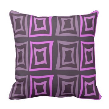 Square Distorted Soft Purple Throw Pillow