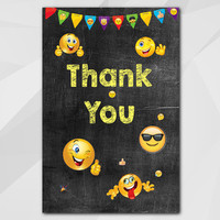 Emoji Thank You Card Printable, Instant Download 5x7, Emoji Thank You, etsy thank you card C007