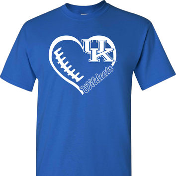 Love UK Football on a Blue Short Sleeve T Shirt