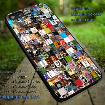 Harry Potter Icon Quote Collage iPhone 6s 6 6s+ 5c 5s Cases Samsung Galaxy s5 s6 Edge+ NOTE 5 4 3 #movie #HarryPotter dt