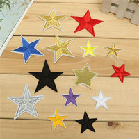 Beautiful Star Patches Iron On Sew Embroidered Cloth Badge Patch Garment Appliques for Clothes DIY Fabric Sticker Color Random
