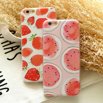 Strawberry Watermelon Cute Case for iPhone