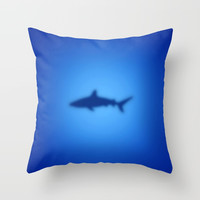 Shark Throw Pillow by steveball