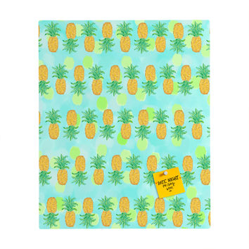 Lisa Argyropoulos Pineapples And Polka Dots Rectangular Magnet Board