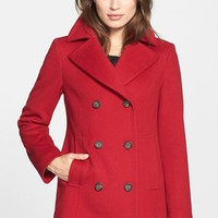 Women's Fleurette Wool Peacoat