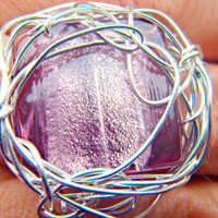 Purple Wire Wrapped Ring by BlissfulBite on Etsy