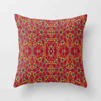 Primary Pattern Throw Pillow by 2sweet4words