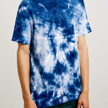 Blue Tiedye Slim Fit T-Shirt - Men's T-shirts & Tanks - Clothing