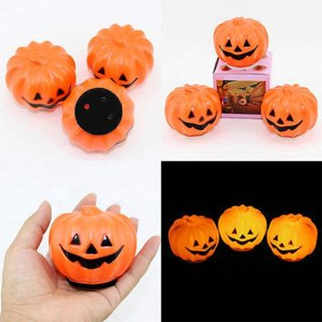 For The Happy Halloween Holiday & Cute Halloween Party Lantern Decoration Props LED Pumpkin Light Hot Smile