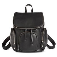 Women's Faux Leather Backpack Handbag Black - Mossimo Supply Co.