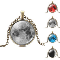 Galaxy Phenomenon Cabochon Pendant Necklace