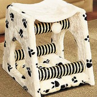 Paw Print Cat Loft or Play Center