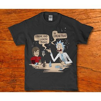 Rick and morty i drink and i know things - Ha i heart that Men's t-shirt